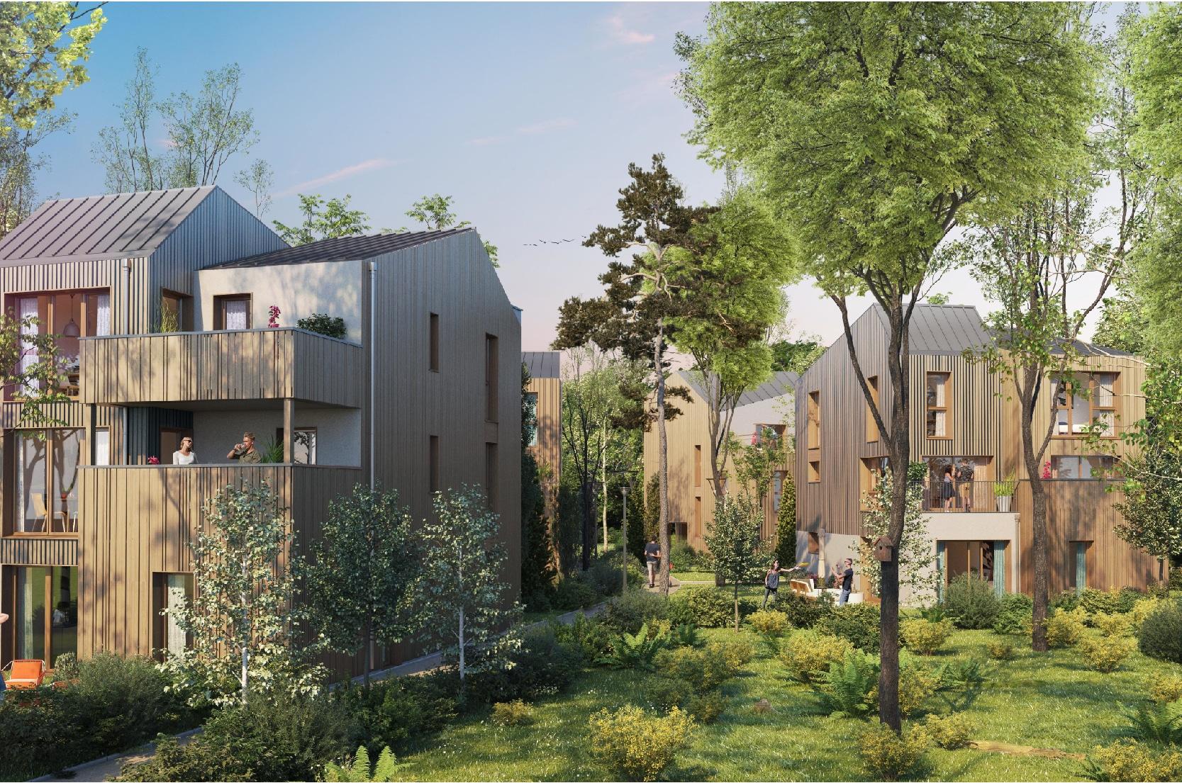 Immobilier neuf Le Touquet - - Maison neuve Appartement neuf - Perspective extérieure